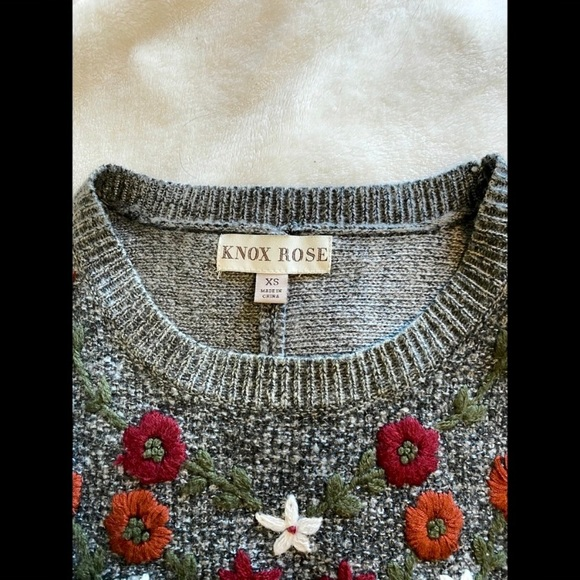 Knox rose target embroidered oversized sweater
